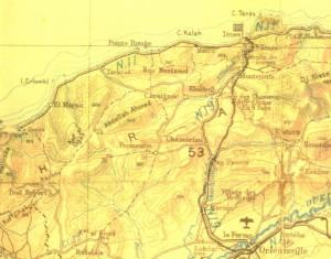 Carte du Dahra et d'El Marsa